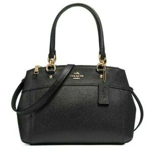 COACH BROOKE Carryall Crossbody Tote Bag Leather